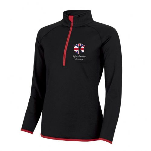Black/Red Sofie Butchart Dressage 1/4 Zip Top
